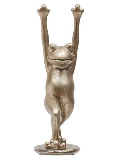 Yoga Yapan Kurbağa Dekoratif Obje -Warm Design